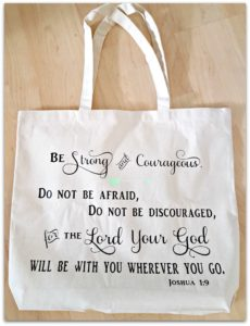 bible quote bag