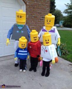 diy lego family costumes