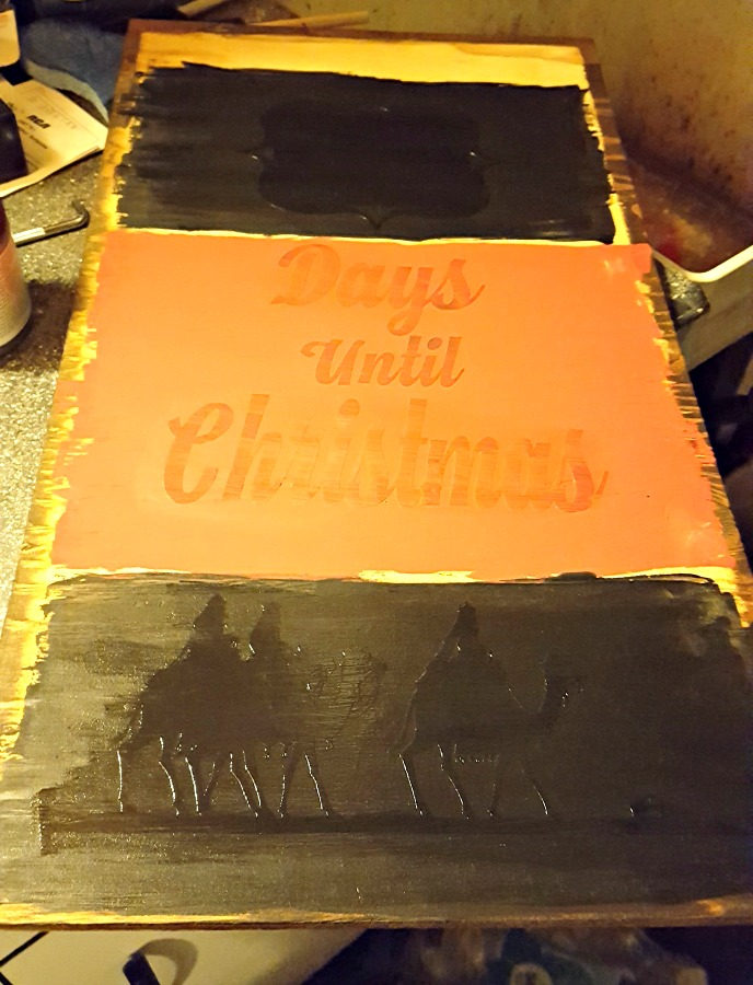 pvpp method for painting a christmas sign