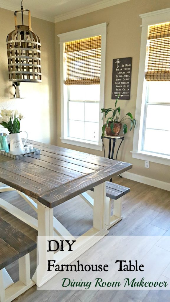 DIY farmhouse table tutorial