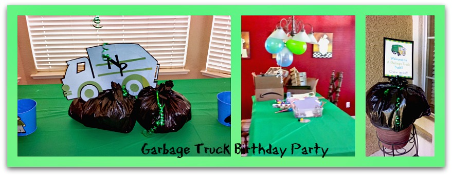 garbage truck birthday party decorations
