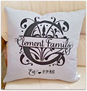 custom pillow cricut