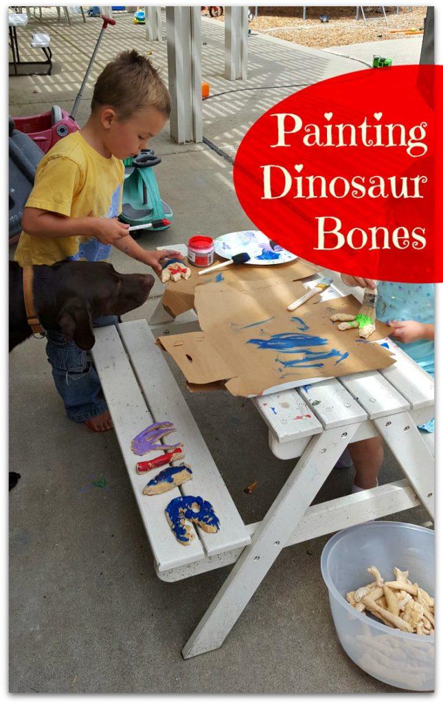 paint dinosaur bones