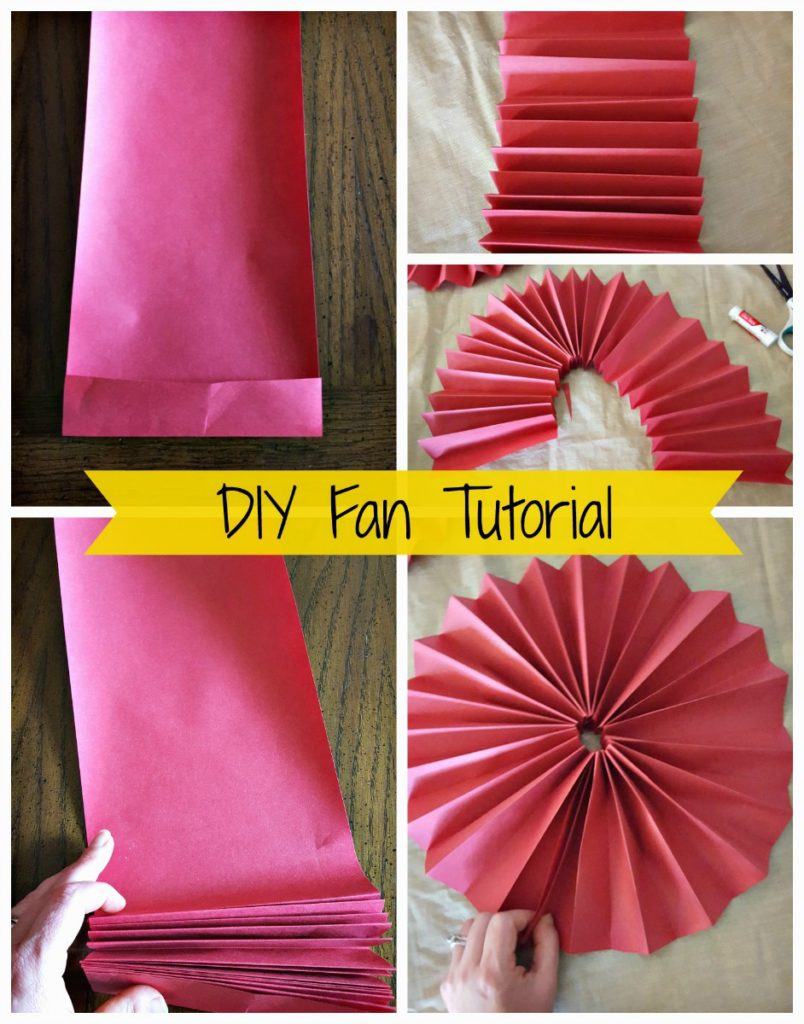 paper fan decoration diy