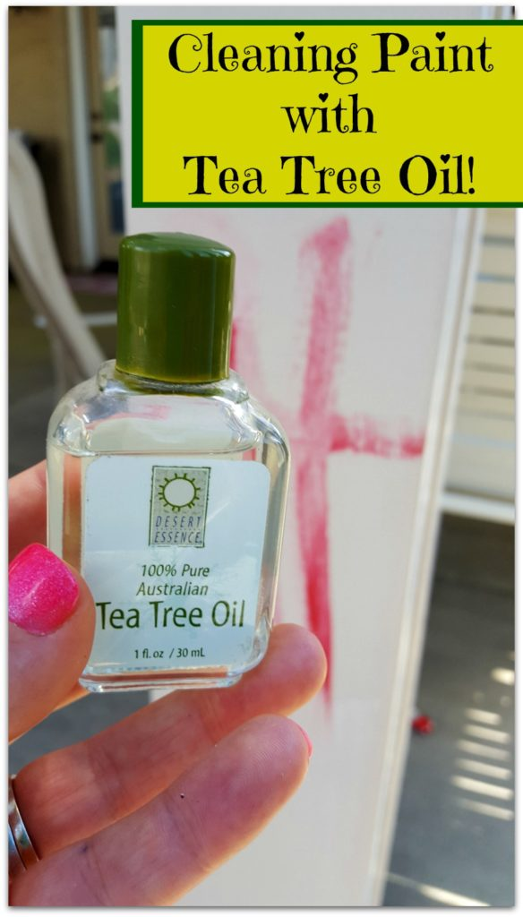 cleaning paint with tea tree oil