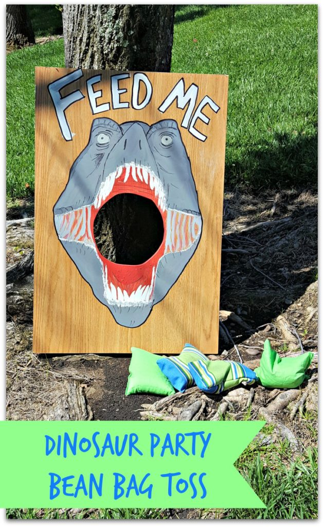 dinosaur bean bag toss game