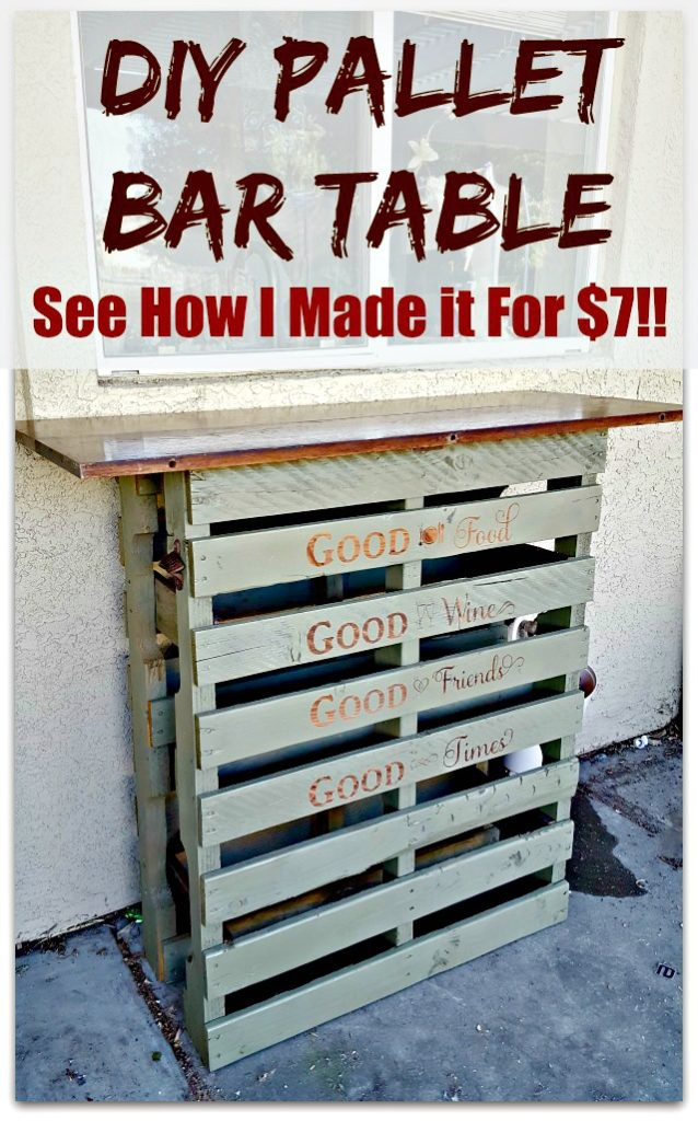 diy pallet bar tutorial