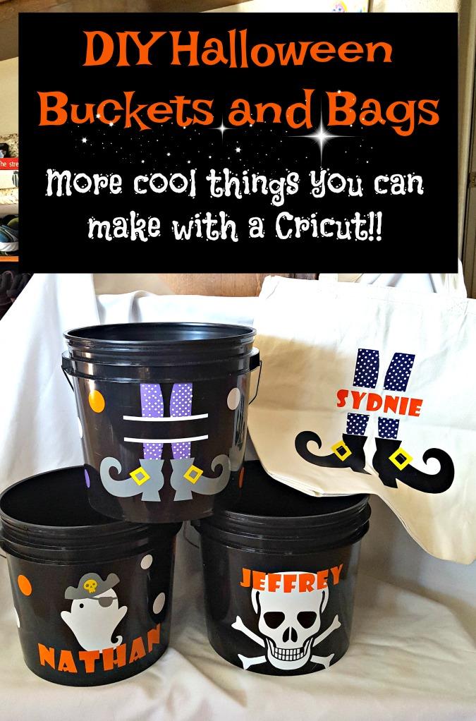 DIY Halloween buckets bags