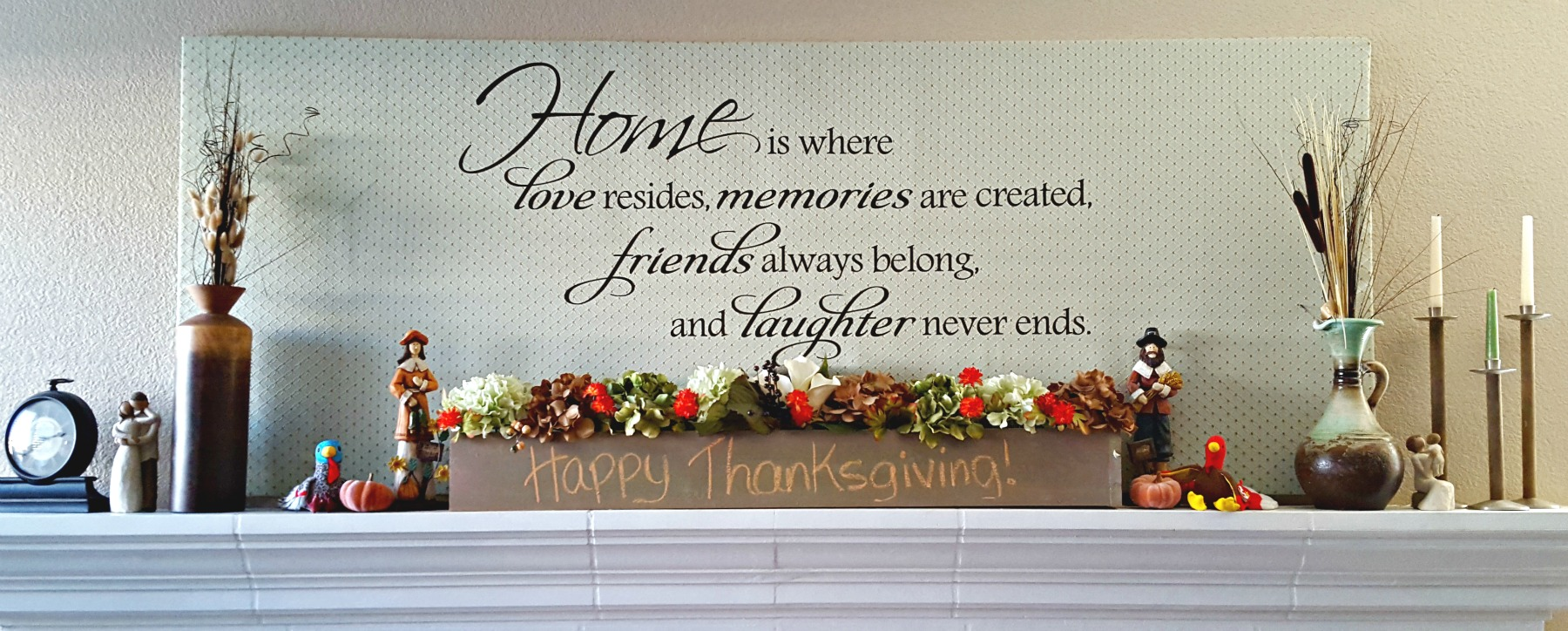 DIY mantel makeover thanksgiving