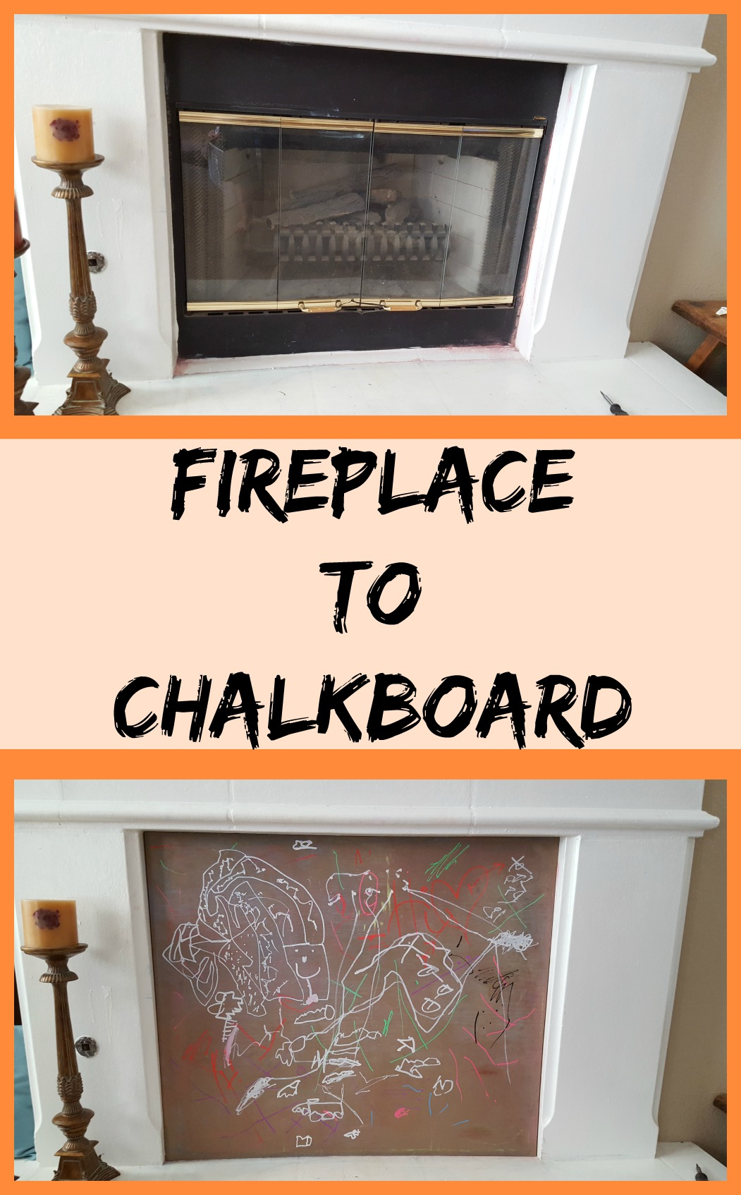 diy mantel makeover