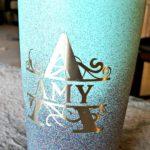 painting stainless steel mug