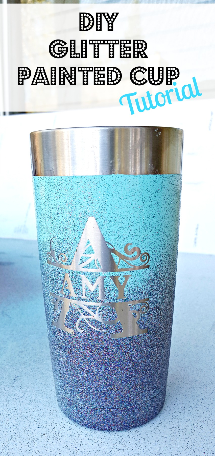 painting a stainless steel mug