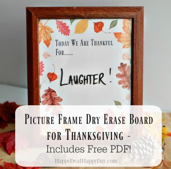 picture frame dry erase board for thanksgiving main e