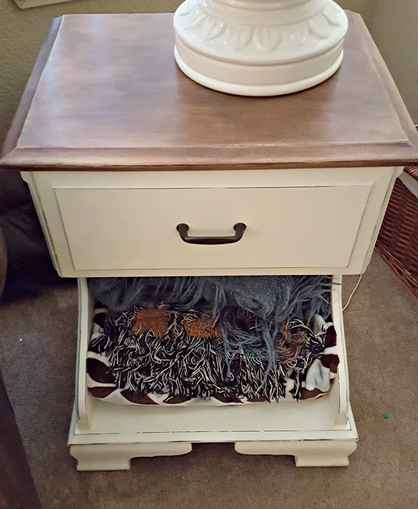 rustic nightstand diy