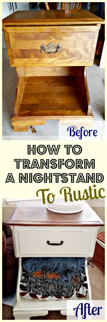 painting end table rustic