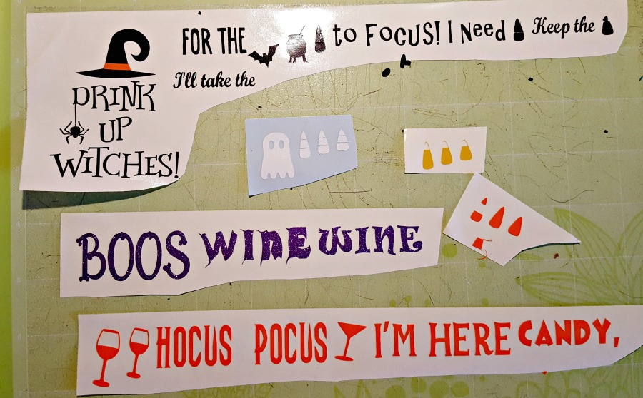 halloween sayings in cricut vinyl