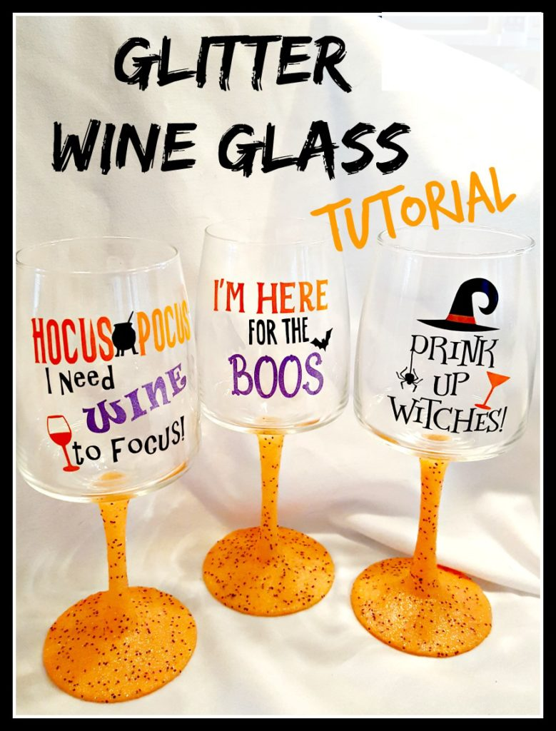 glitter wine glass tutorial