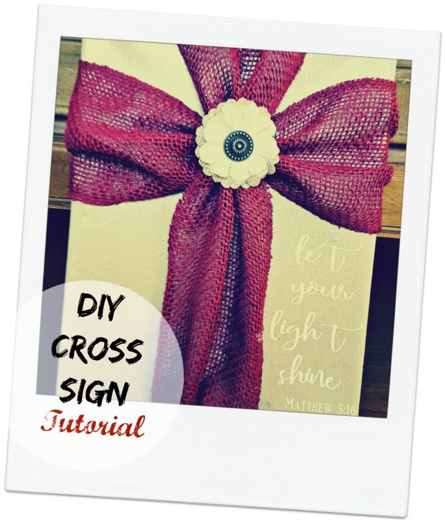 cross with ribbon sign tutorial
