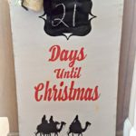 diy christmas chalkboard wood sign tutorial