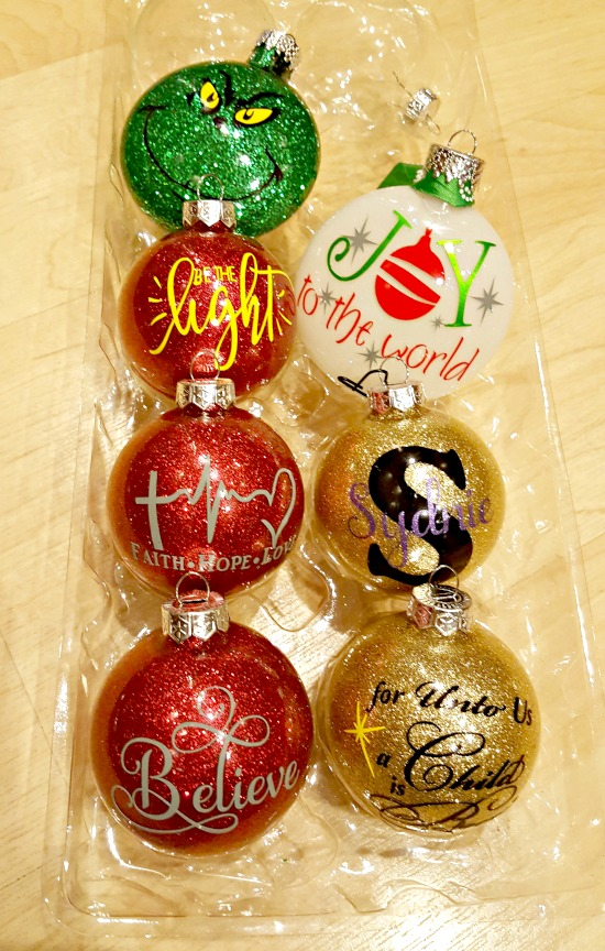 diy glitter ornament tutorial