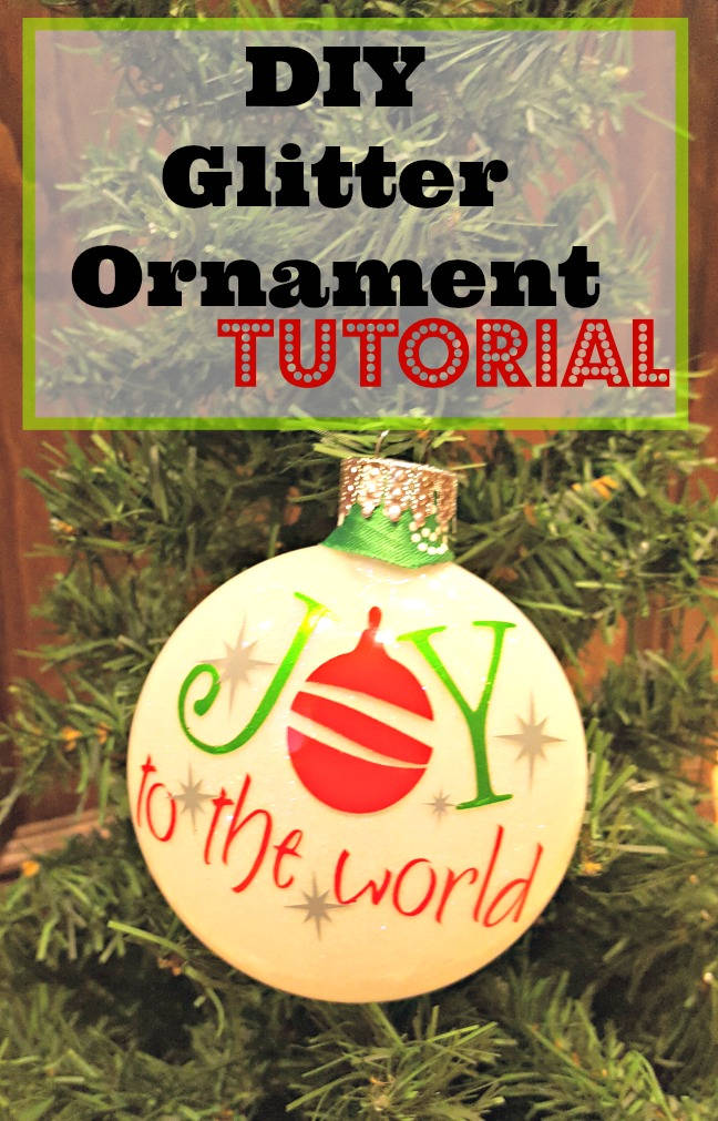 diy glitter ornaments tutorial