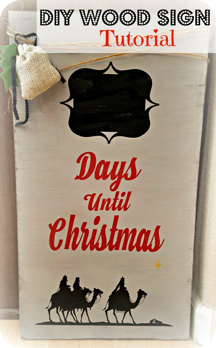 diy christmas wood sign tutorial