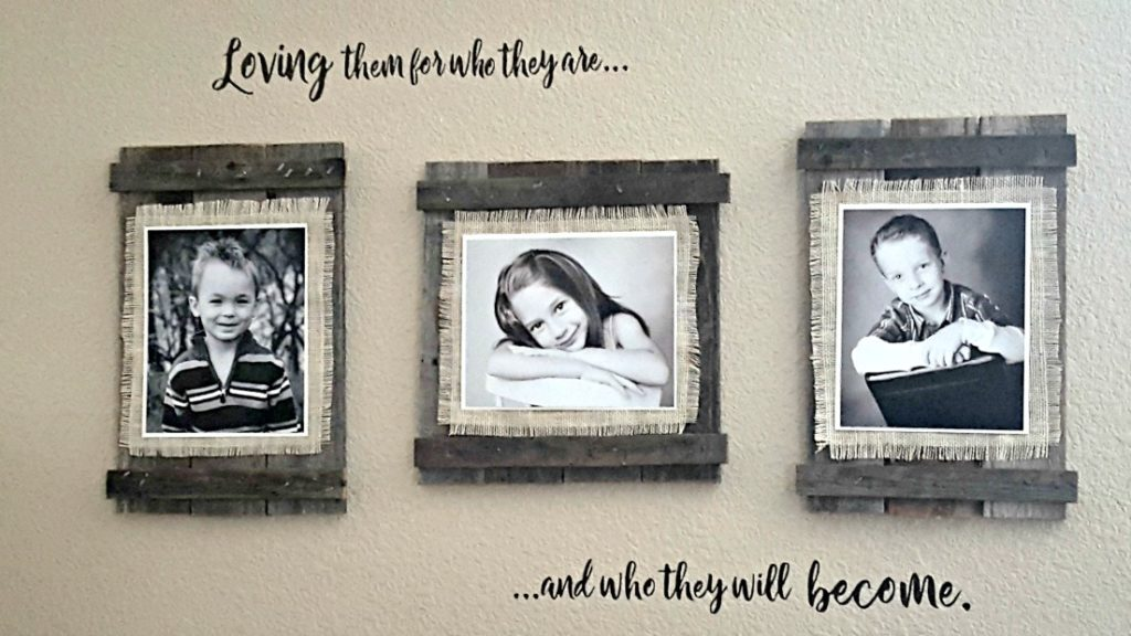 diy farmhouse picture frame tutorial