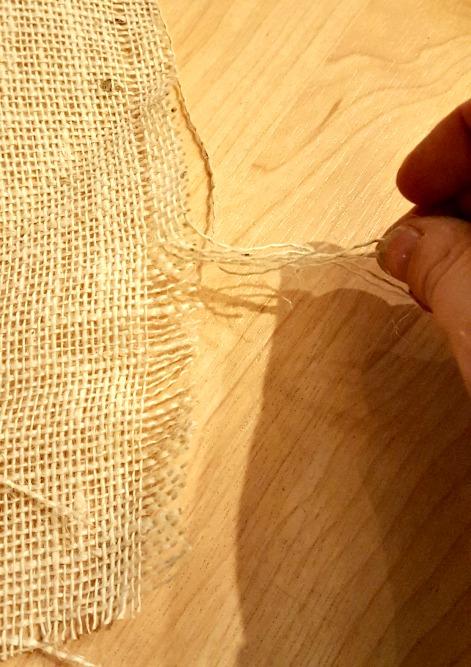 how to cut burlap