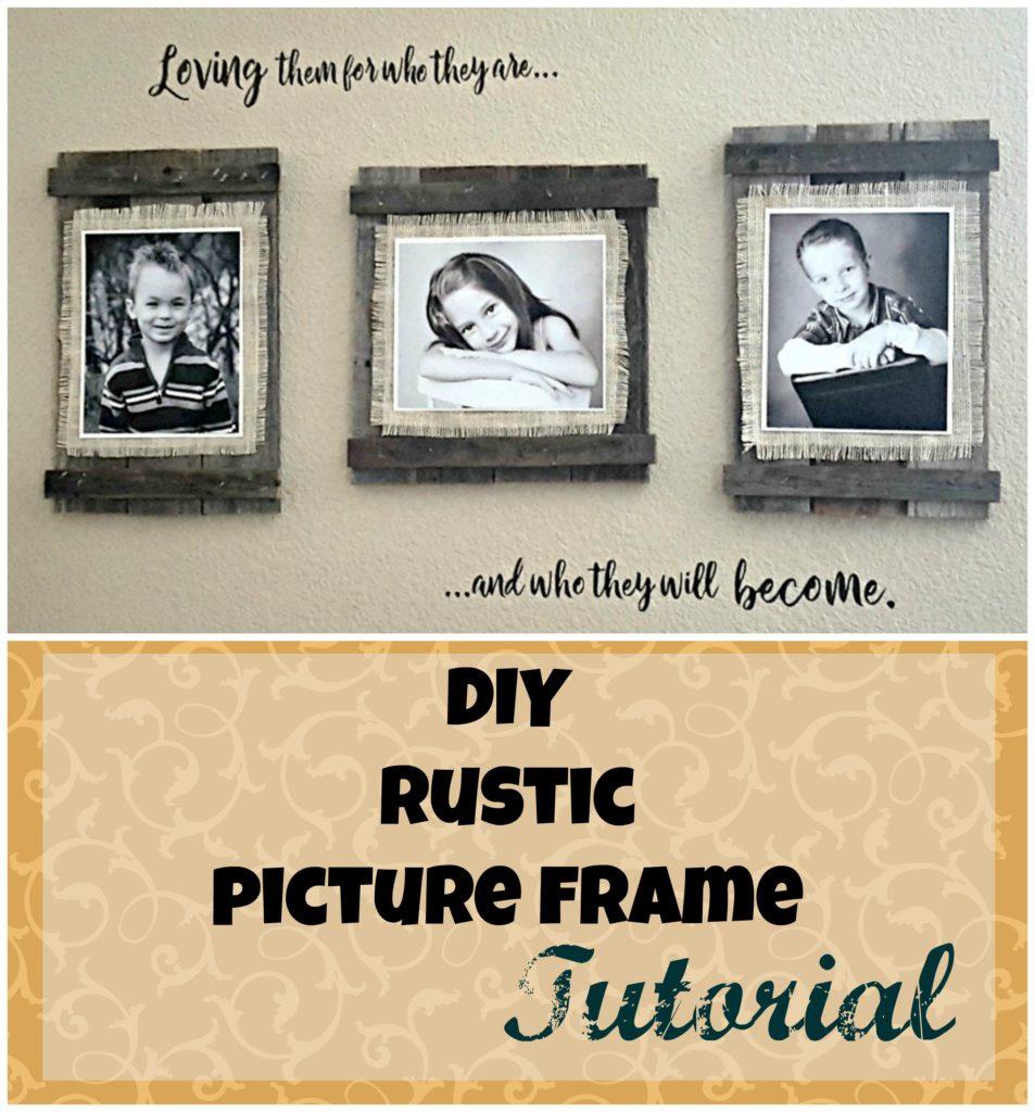 rustic frames diy
