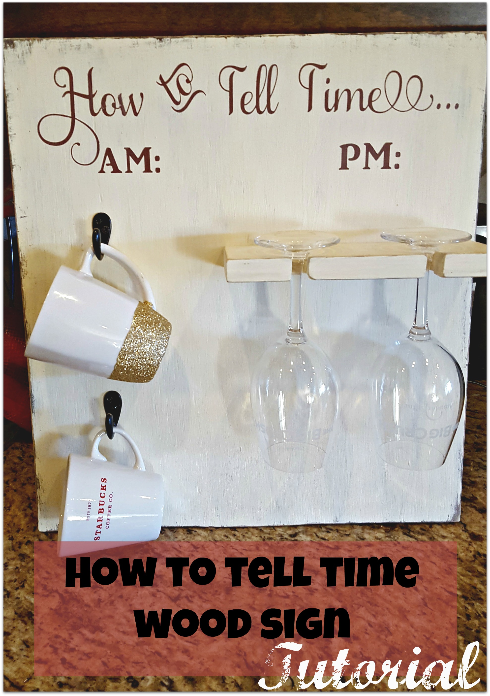 how to tell time DIY tutorial