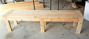 DIY wood bench tutorial