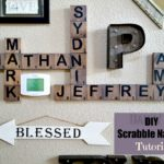 DIY Large Scrabble Wall Tiles tutorial