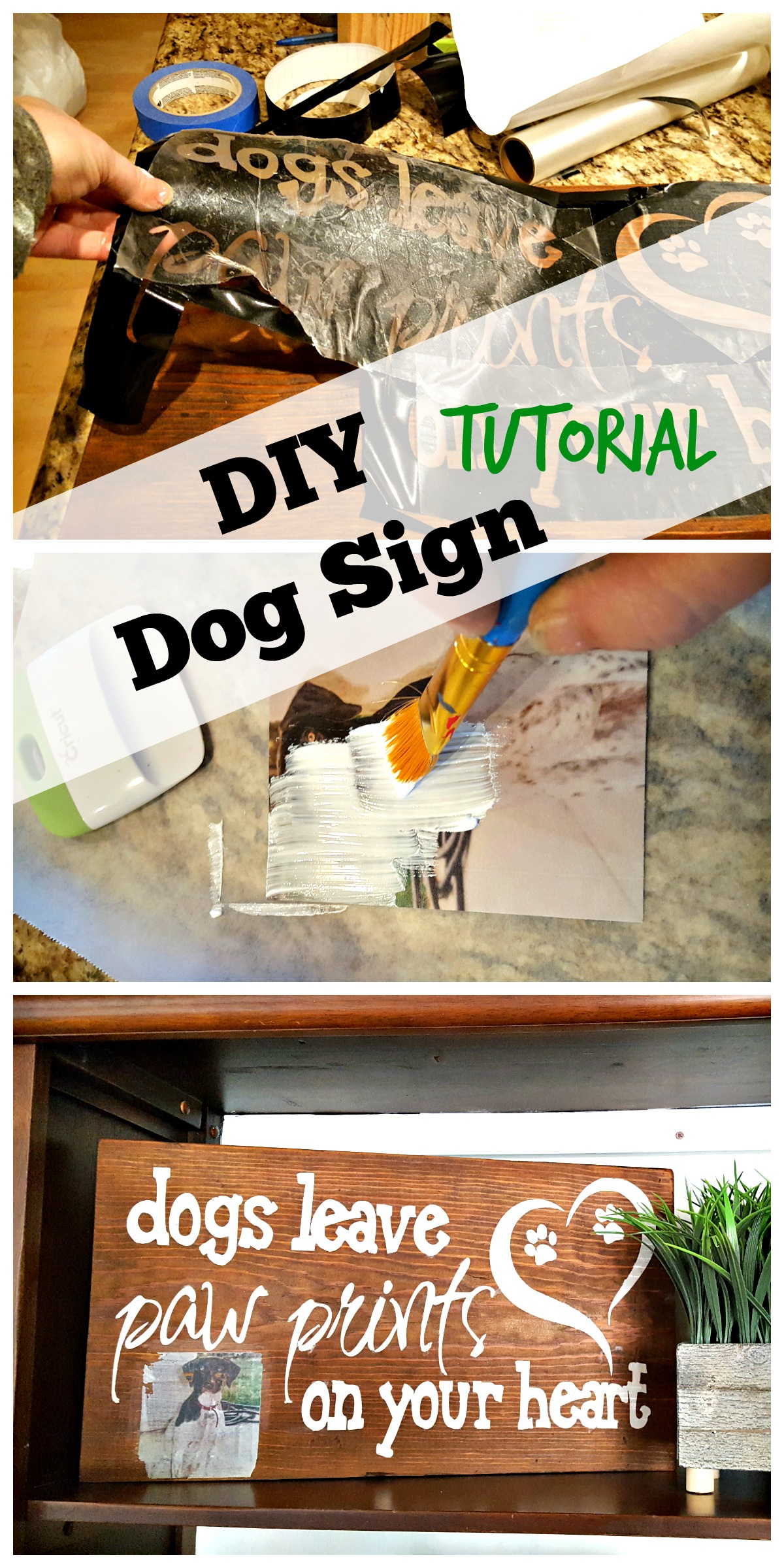 diy dog sign with photo