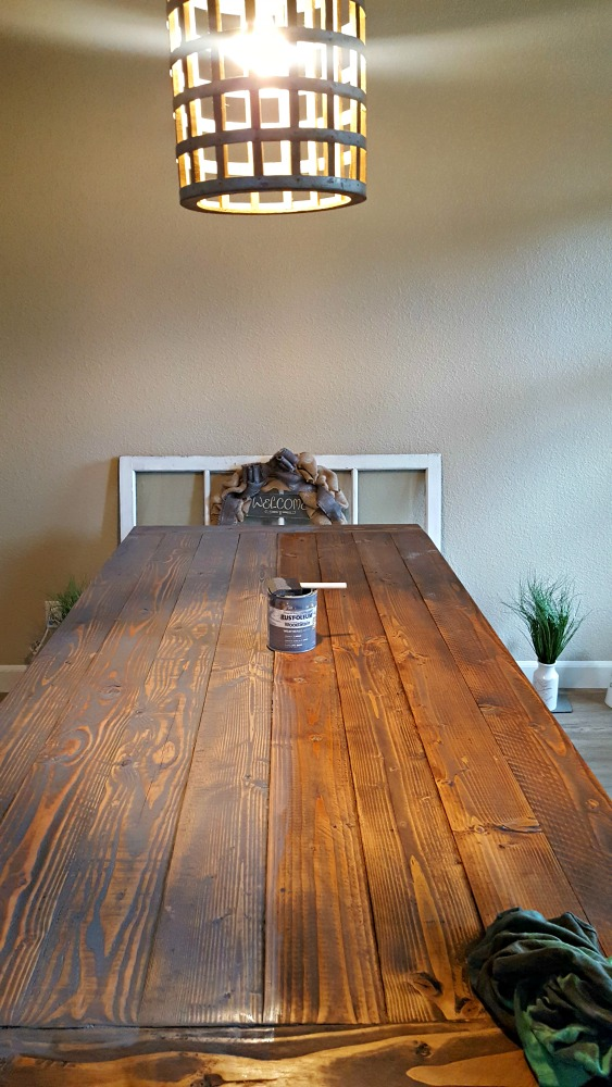 Rustoleum weathered grey table