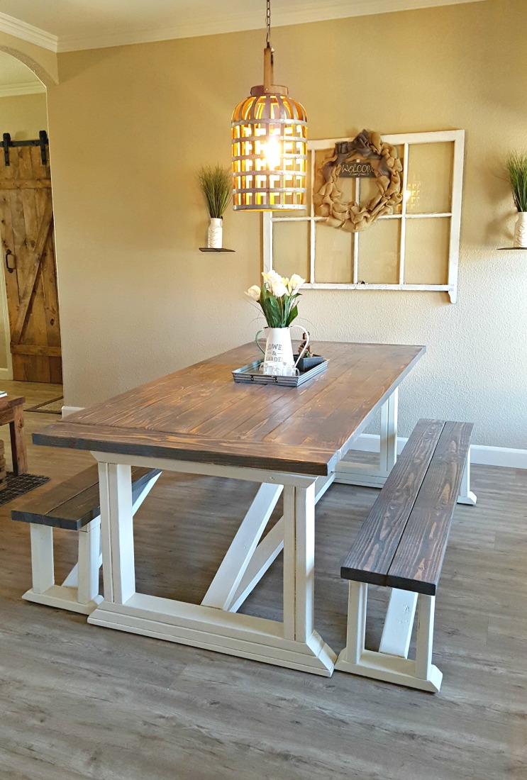 farm table dining room diy farmhouse table leap of faith crafting 2105
