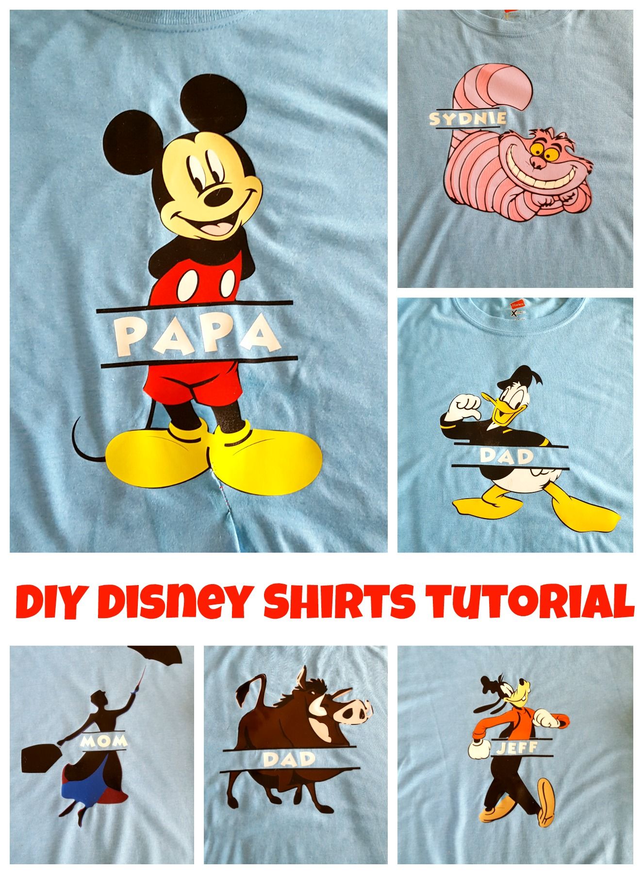 DIY Disney Shirts tutorial layered vinyl