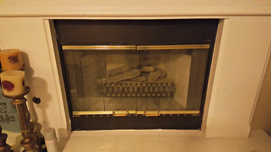 painting brass fireplace