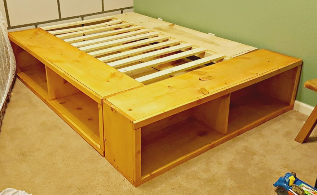Full Bed Frame.Diy Full Size Bed Frame With Storage Leap Of Faith Crafting