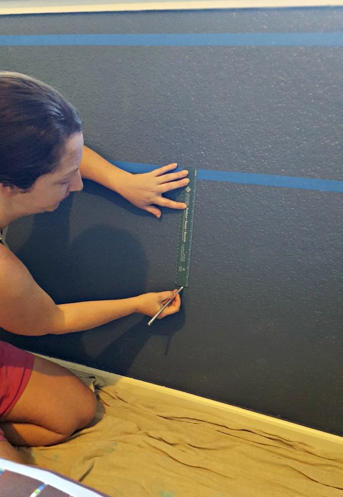 painting minecraft blocks on wall