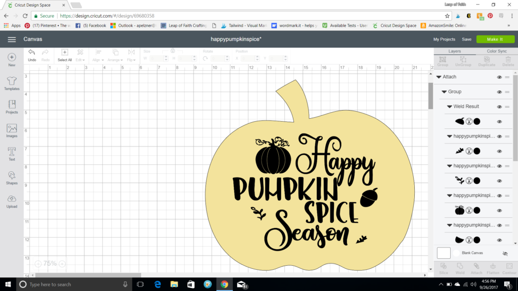 DIY pumpkin wood sign with free svg file