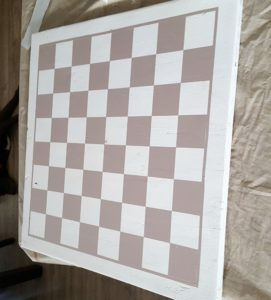 DIY large checkerboard tutorial outdoor