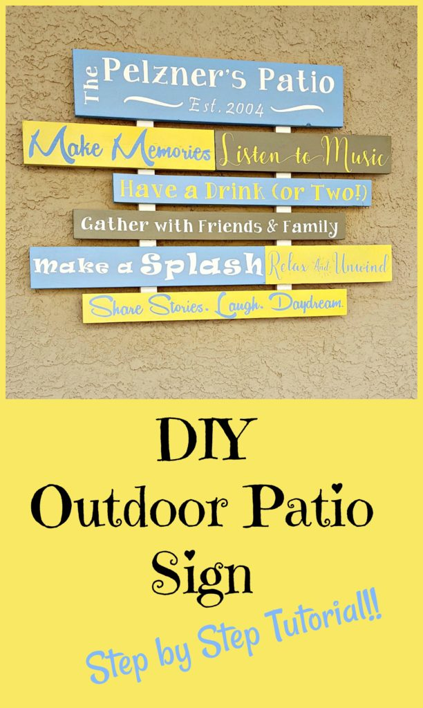 DIY Patio Sign Tutorial