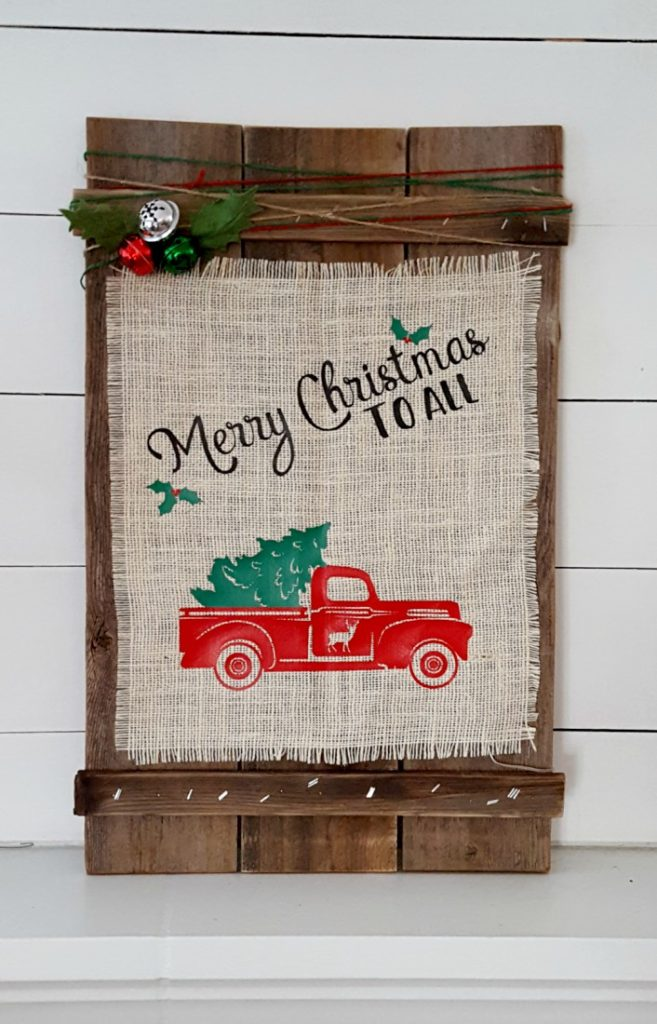 Rustic Christmas decor DIY