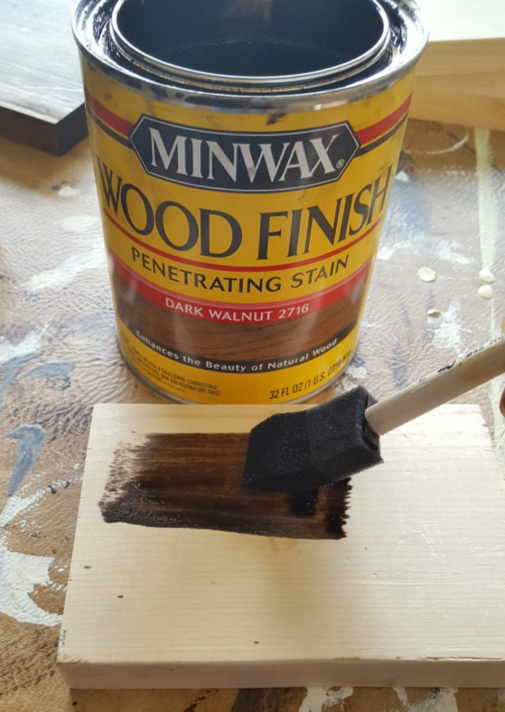 staining with dark walnut