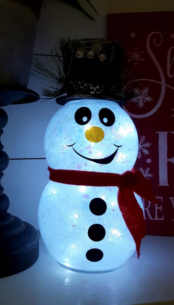 DIY light up snowman