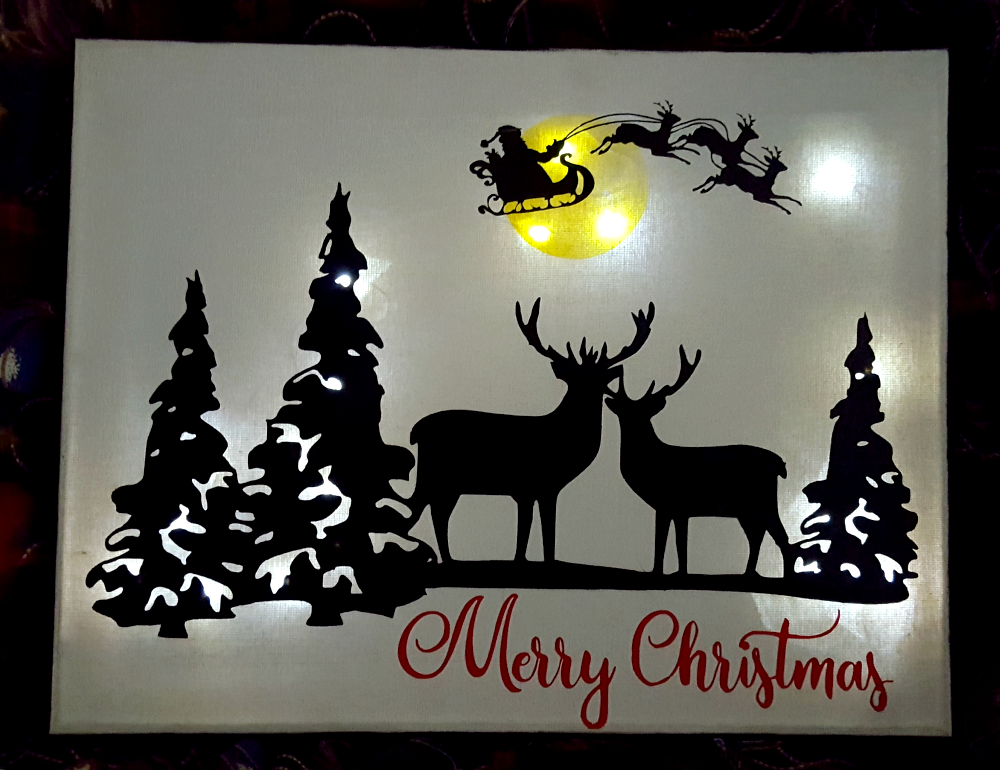 Merry Christmas canvas sign