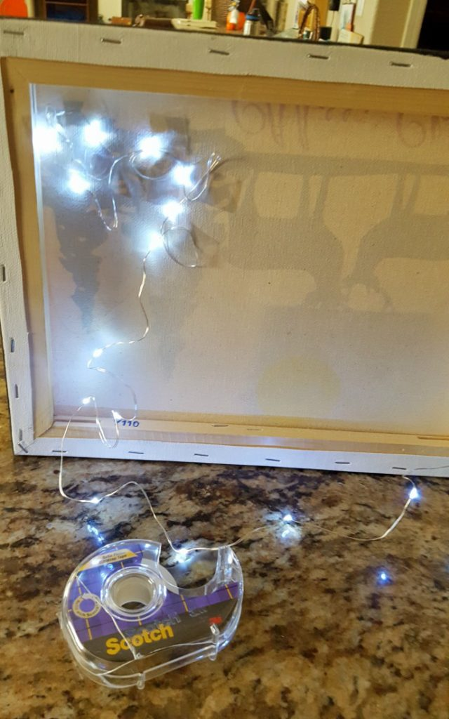 DIY Light Up wall decor