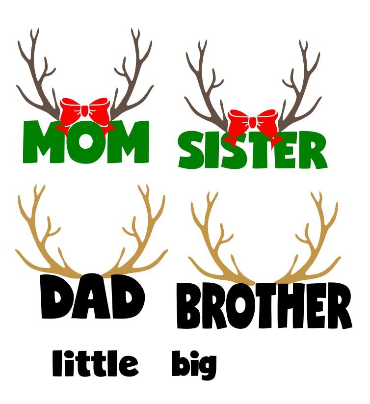 ff59d0cc98 Deer Head SVG Free File to Make Family Christmas Pajamas! - Leap of ...