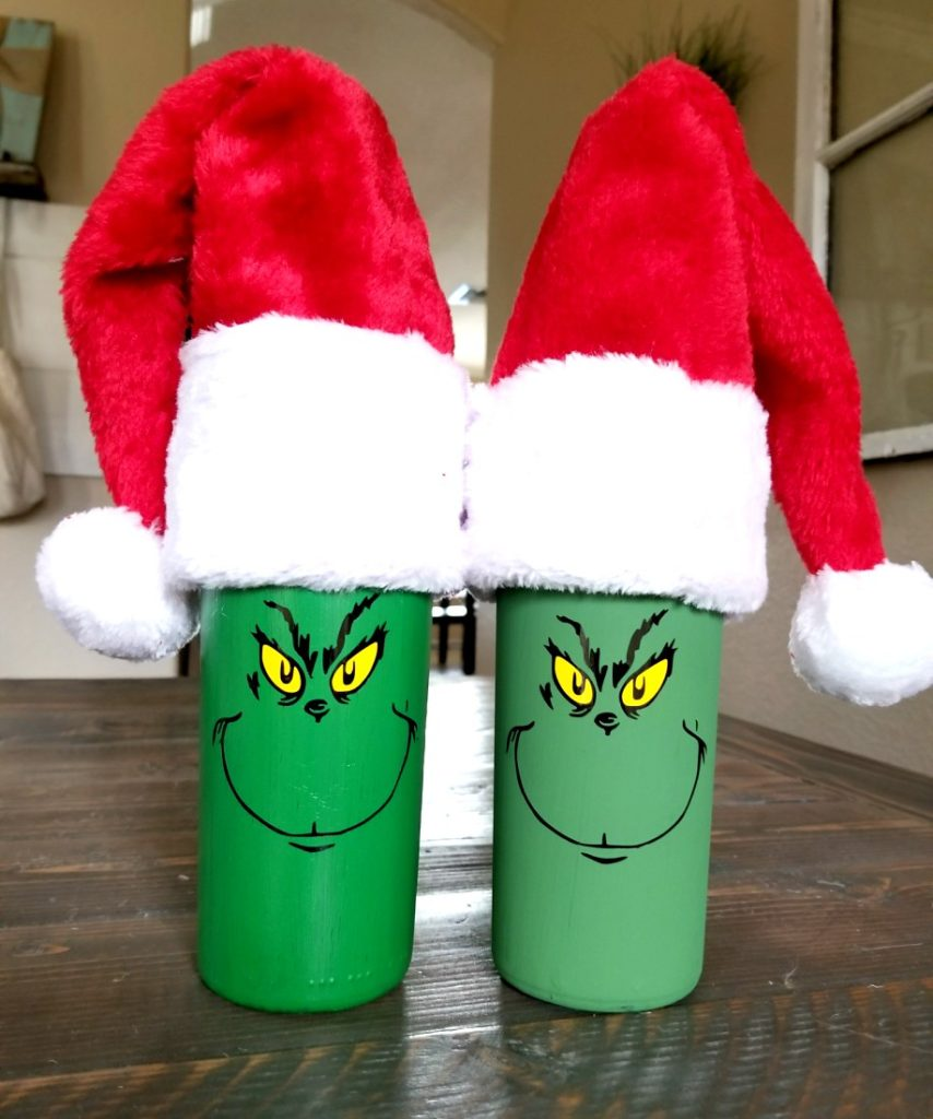 diy grinch bottle