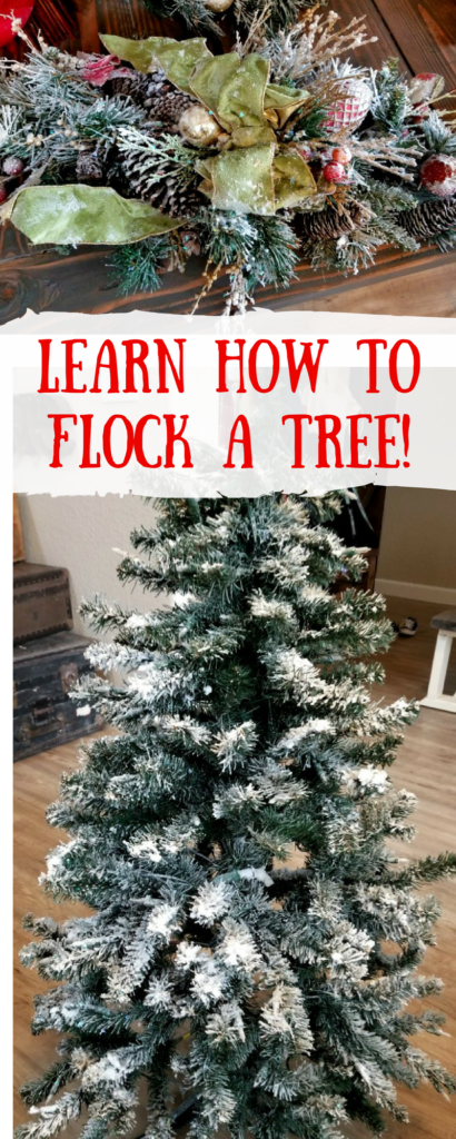 how to flock a christmas tree